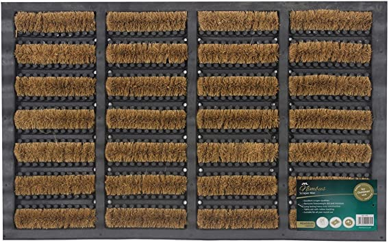 Jvl Heavy Duty Nimbus Rubber Natural Coir Tuffscrape Door Mat Rattan 40 X 60 Cm Amazon Co Uk Kitchen Home