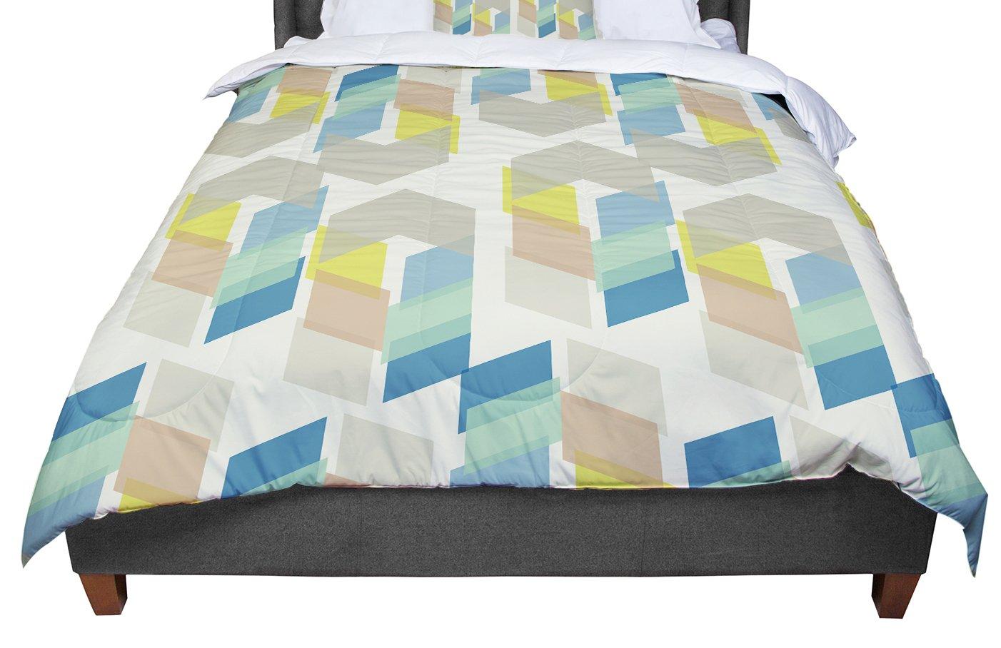 104 X 88 KESS InHouse Gukuuki Kobob Chevron Geometric Brown King Cal King Comforter