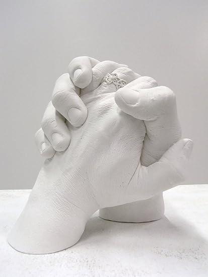 Moldes de yeso 3d manos, moldes para niños y adultos | calco manos, pies