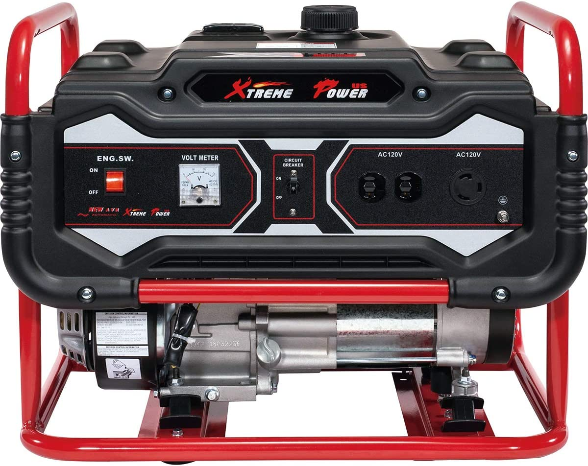 XtremepowerUS 4000-Watt Gasoline Generator Emergency Lifan Engine Camping 4-Cycle Gas Powered Air Cooled OHV EPA