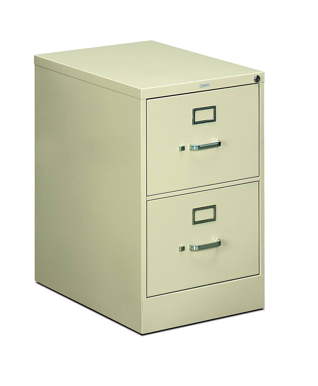 "HON 2-Drawer Filing Cabinet - 510 Series Full-Suspension Legal File Cabinet, 29h by 25d by 18.25w, Black (H512C)"" Black (H512C)"" United Stationers H512C.P.P"