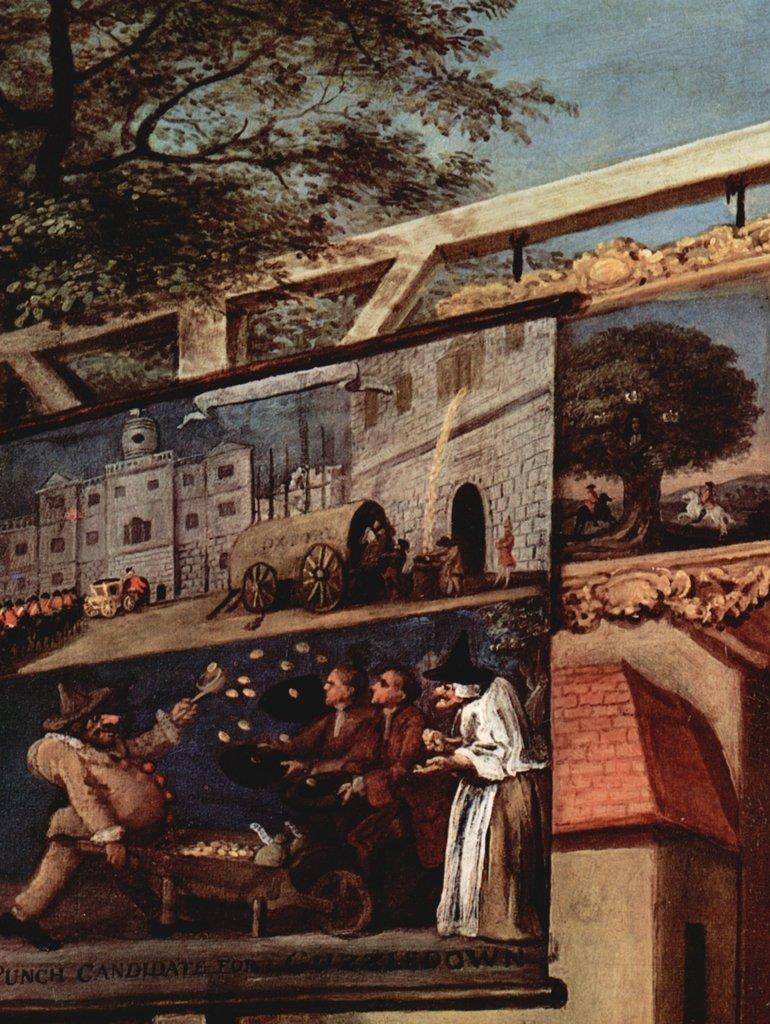 Lais Lais Lais Puzzle William Hogarth - Gemäldeserie »Wahlzyklus«, Szene: Wahlpropaganda, Detail 2000 Teile fc12a2