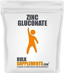 BulkSupplements.com Zinc Gluconate Powder - Vitamin Zinc - Vegan Zinc - Raw Zinc - Elemental Zinc - Pure Zinc (1 Kilogram)