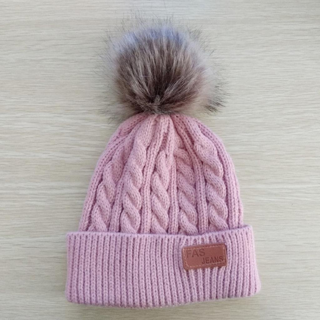 QUICKLYL Sombreros de Punto Beb/é Gorro de Gorro Caliente Invierno C/álido con Bolas Mullidas para Ni/ños Ni/ñas 2 a 8 A/ños