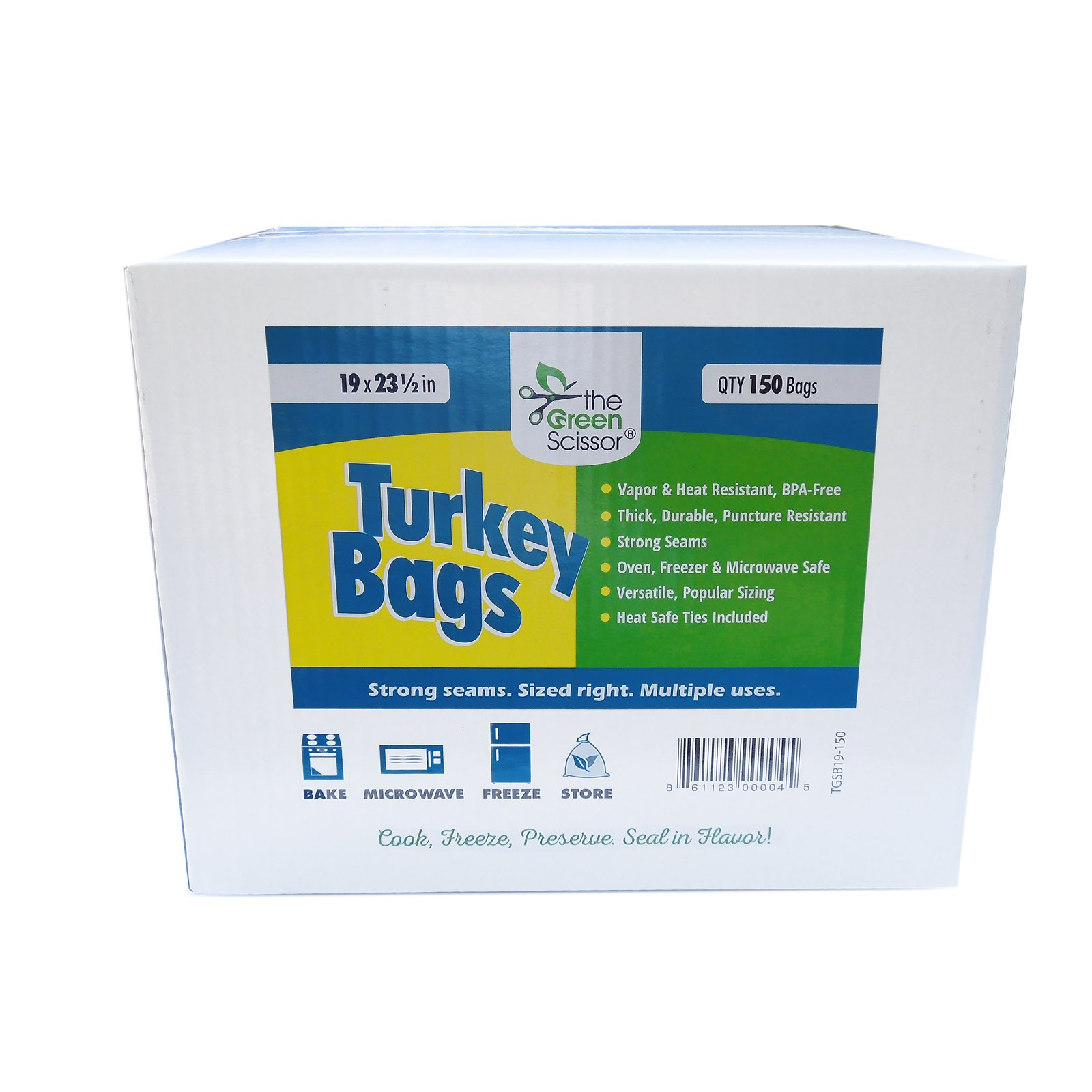 The Green Scissor Turkey Bags 19 x 23.5 in - 150 box