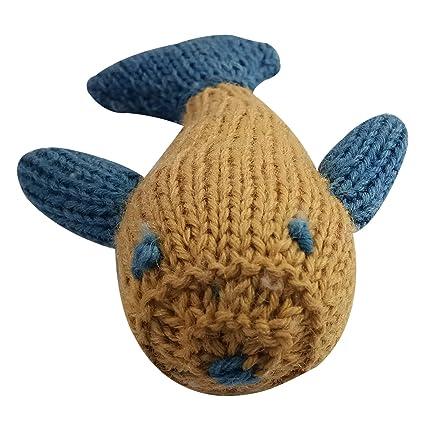 Amazon Newborn Baby Soft Toy Crochet Fish Handmade Knitted