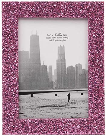 5x7 pinky glitter photo frame