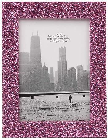 5x7 pinky glitter photo frame