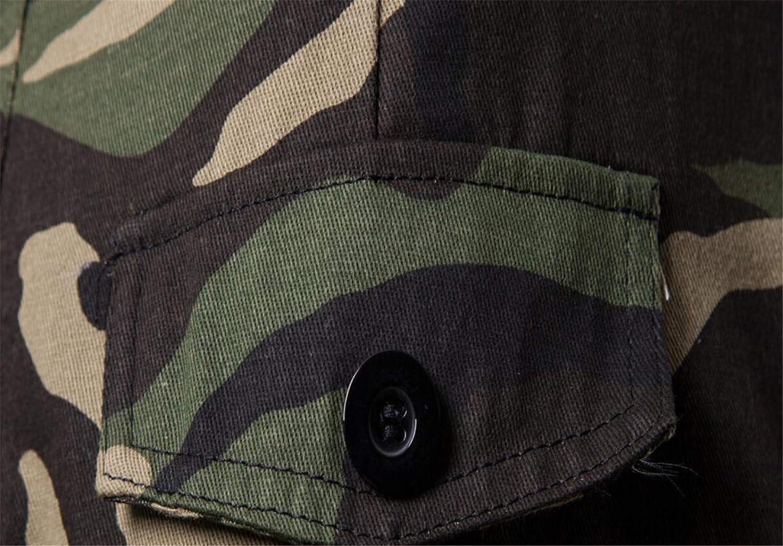 Zantt Mens Sports Jogger Camo Print Multi Pockets Basic Long Pants