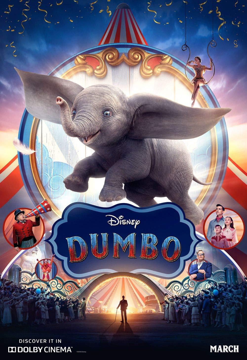 Lionbeen Dumbo Movie Poster Cartel de la Pelicula 70 X 45 cm ...