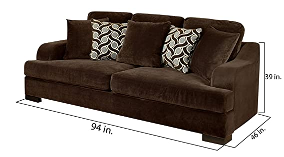 Amazon.com: Furniture of America Valencia Chocolate Brown ...