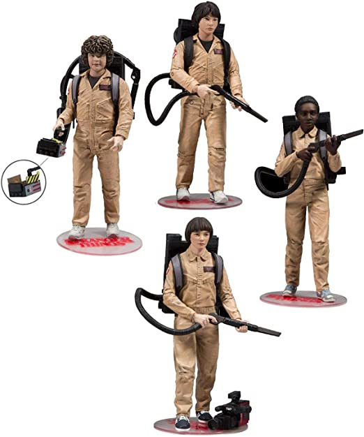 Close Up Set de 4 Figuras de Acción Stranger Things Deluxe Box ...