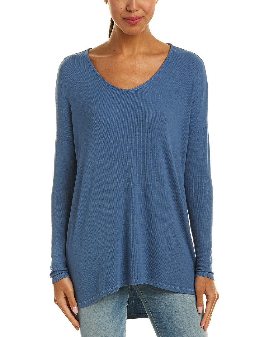 Michael Stars Womens High-Low Top, O/S, Blue