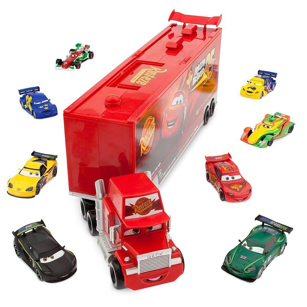 Disney Pixar Cars Talking 60cm Mack with 10 Car Die-Cast Set