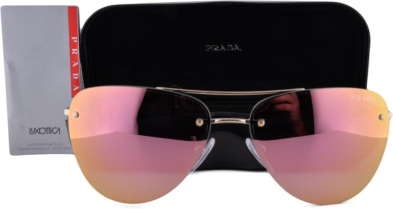 e4cfef4300ef Prada PS53RS Sunglasses Pale Gold w Rose Gold Gray Mirror Lens ZVN5L2 SPS  53R