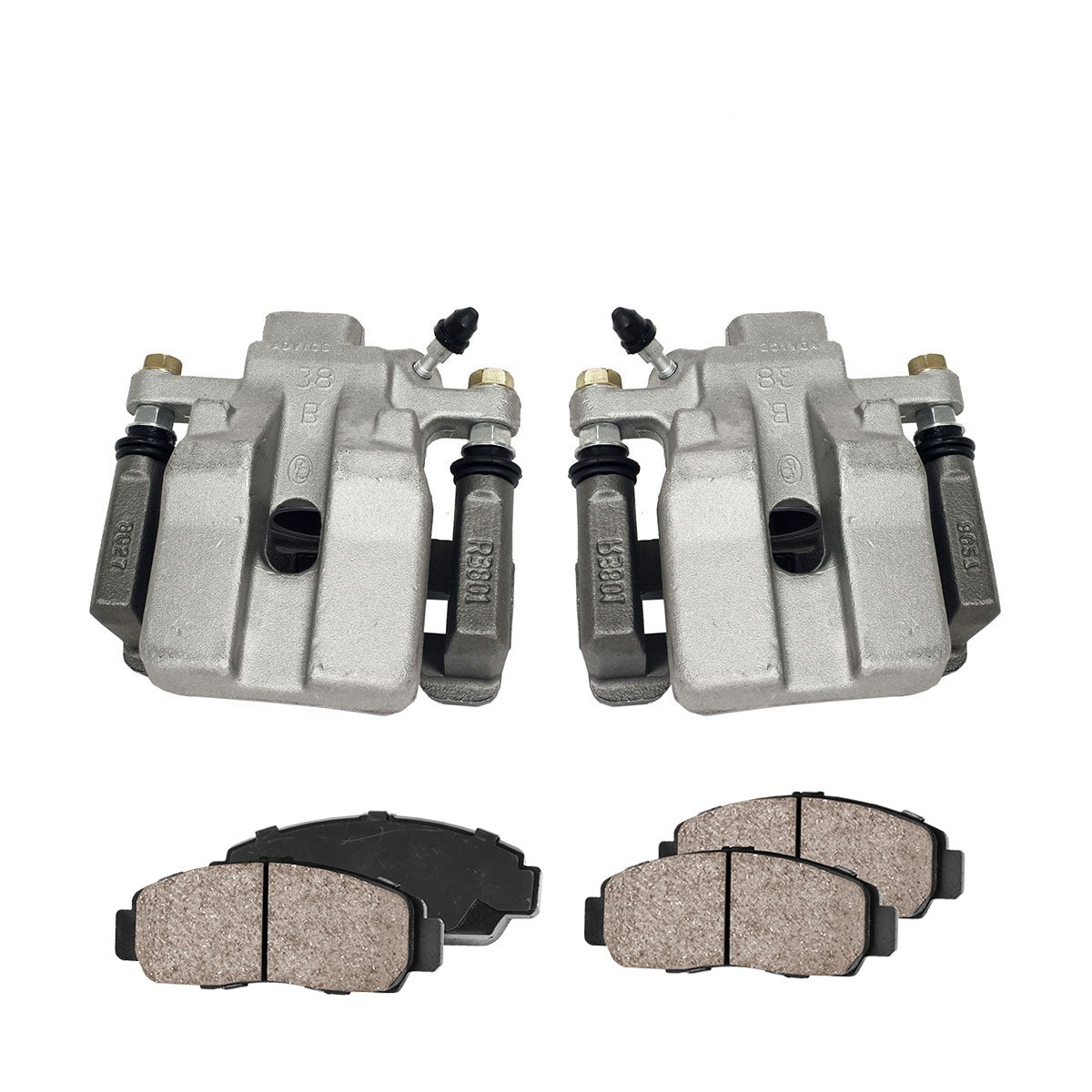 Callahan CCK03395 REAR Premium Loaded OE Caliper Pair + Ceramic Brake Pads + Hardware Kit Callahan Brake Parts