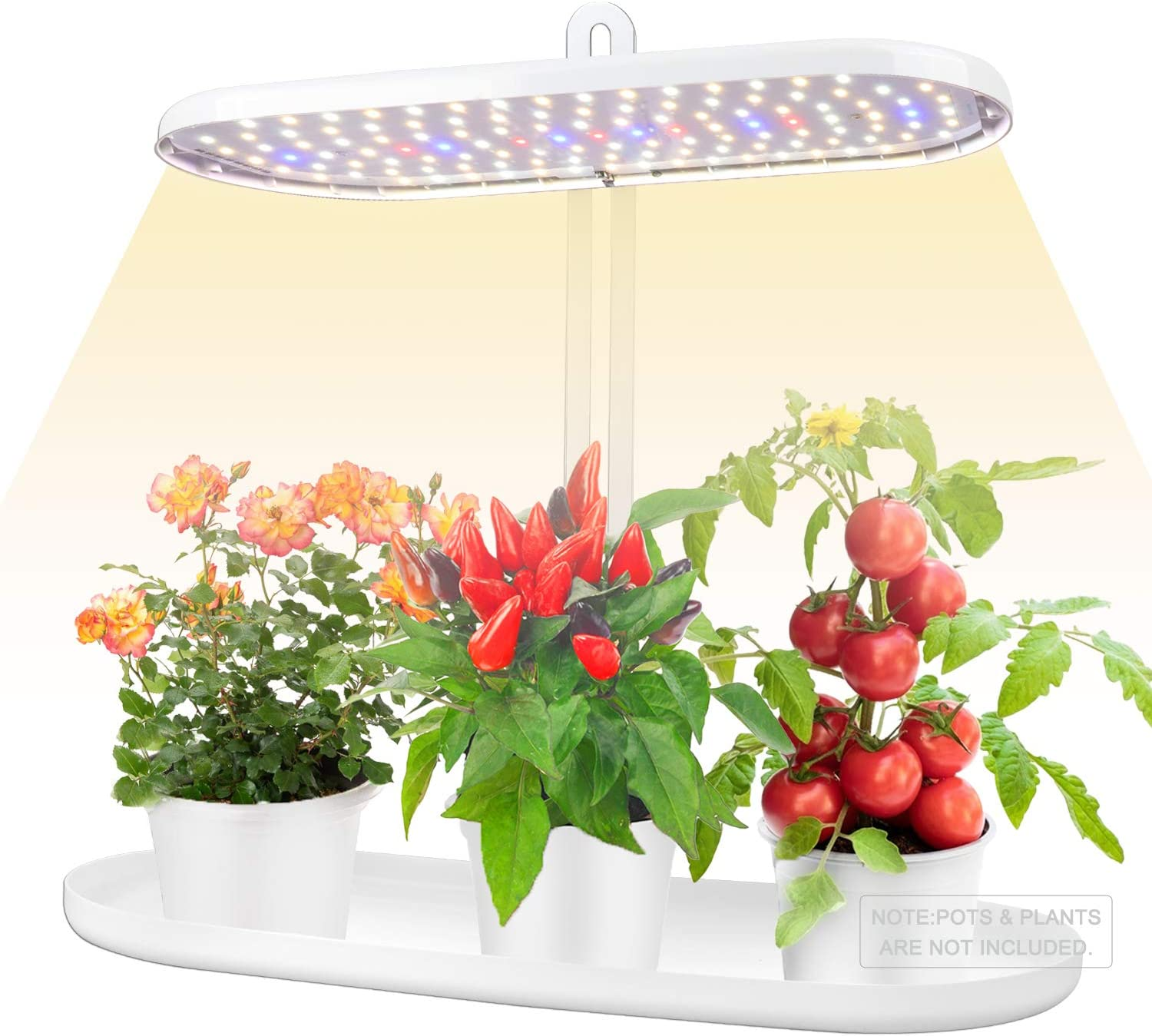 LVJING Indoor Garden Kit, Herb Garden LED Grow Light, 4 Dimmable Levels Indoor Herb Growing Kit, 3 Timing Modes Plant Lights, 12V Low Voltage and Height Adjustable Plant Growing Lights Fixtures Stand