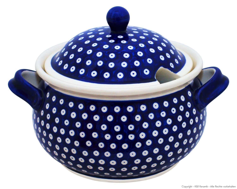 Boleslawiec Pottery Soupière en céramique de Boleslawiec Motif 42, 5 l Bunzlauer Keramik GU-949/42
