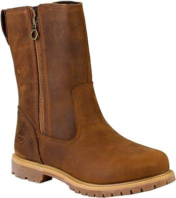 Timberland Nellie Pull On Womens Ladies Black Brown Waterproof Biker Boots