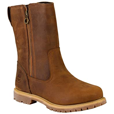 TIMBERLAND NELLIE PULL ON FUR LINED CALF BOOTS Dark Brown