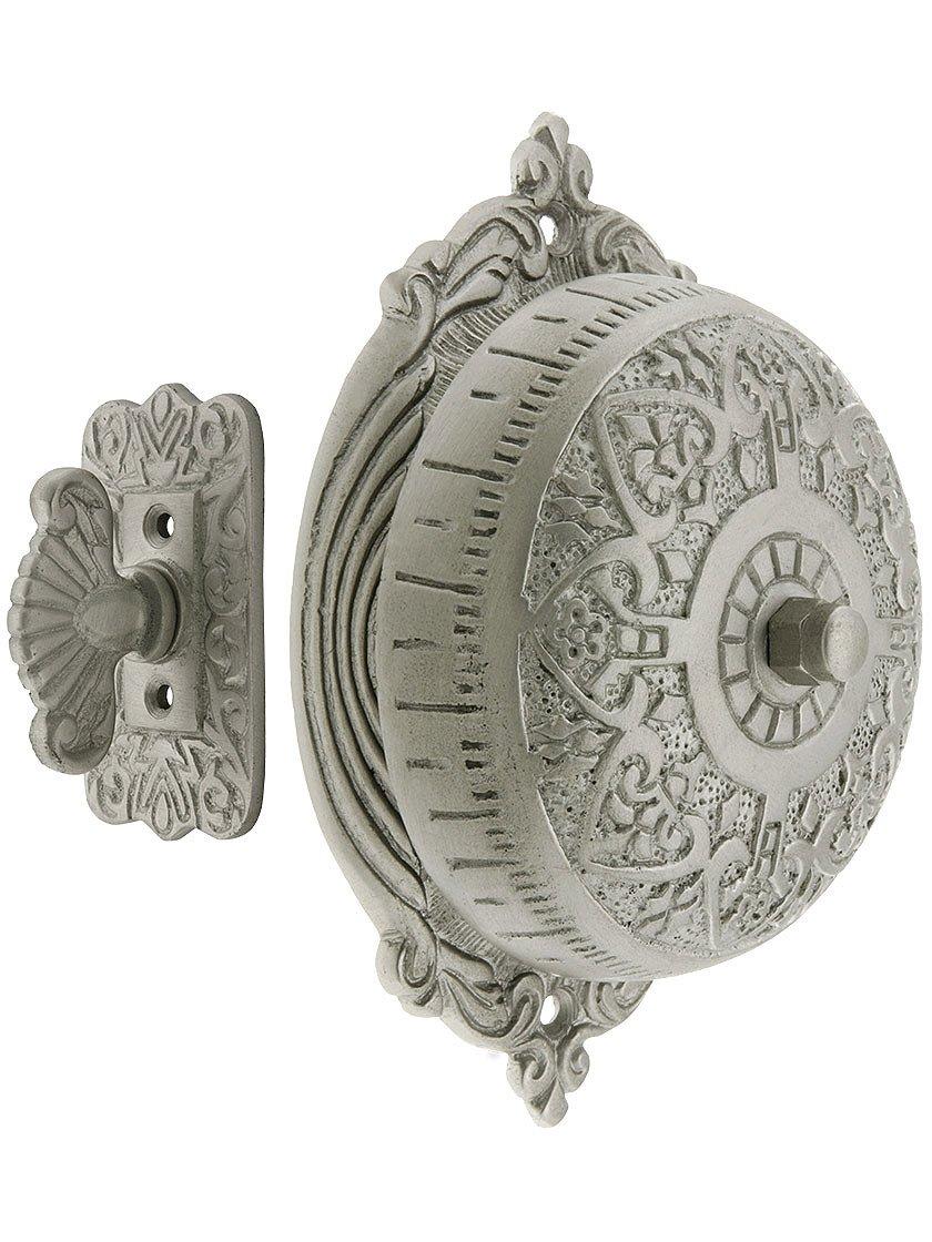 House of Antique Hardware R-06SE-0900027 Heart Design Mechanical Door Bell in Satin Nickel