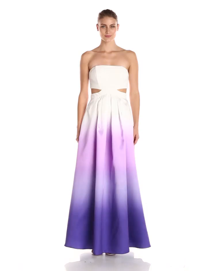 Decode 1.8 Women\'s White-and-Purple Ombre Strapless Dress at Amazon ...