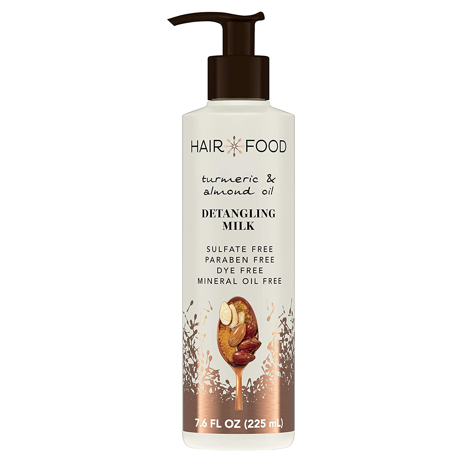 Hair Food Hair Food Turmeric & Almond Oil Detangling Milk, 7.6 Fl. Ounce Hair Styling Product for Curly Hair, 7.6 fluid_ounces