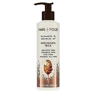 Hair Food Hair Food Turmeric & Almond Oil Detangling Milk, 7.6 Fl. Ounce Hair Styling Product for Curly Hair, 7.6 fluid_ounces
