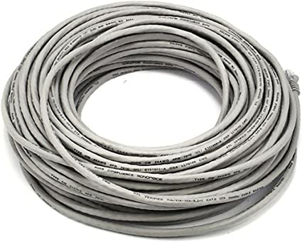 Black 30FT 24AWG Cat6 550MHz UTP Ethernet Bare Copper Network Cable