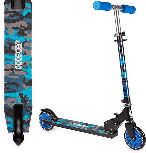 Bopster 2 Wheeled Folding Children s Kick Scooter Blue Camo