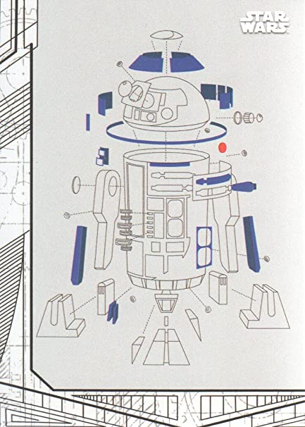 2017 Topps Star Wars The Last Jedi Series One Blueprints And