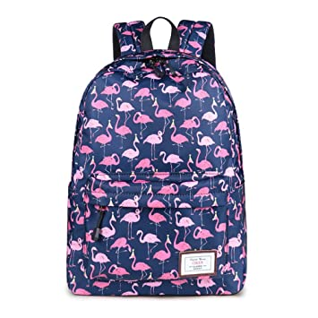 CIKER Women Flamingo printing backpacks for teenage girls rucksack cute school  bags (Blue) 74f62ceb93