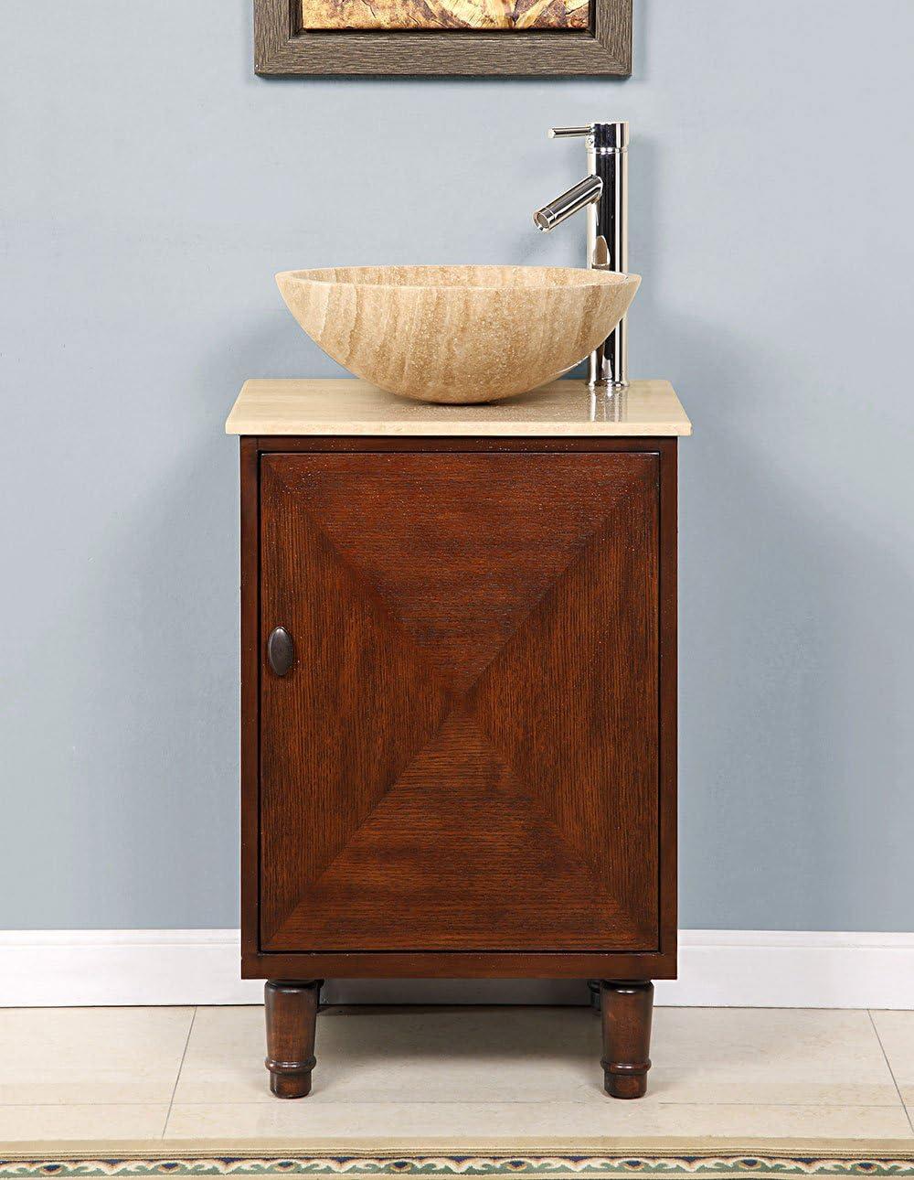 20 Single Sink Travertine Top Bathroom Vanity Cabinet Lavatory Furniture 225T