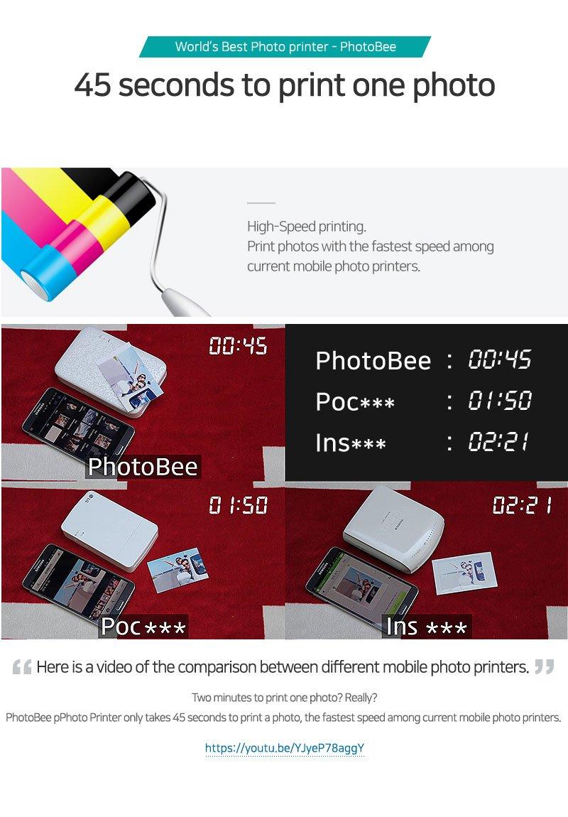 Photobee Portable Wifi Photo Printer - Pink by PHOTOBEE (Image #8)