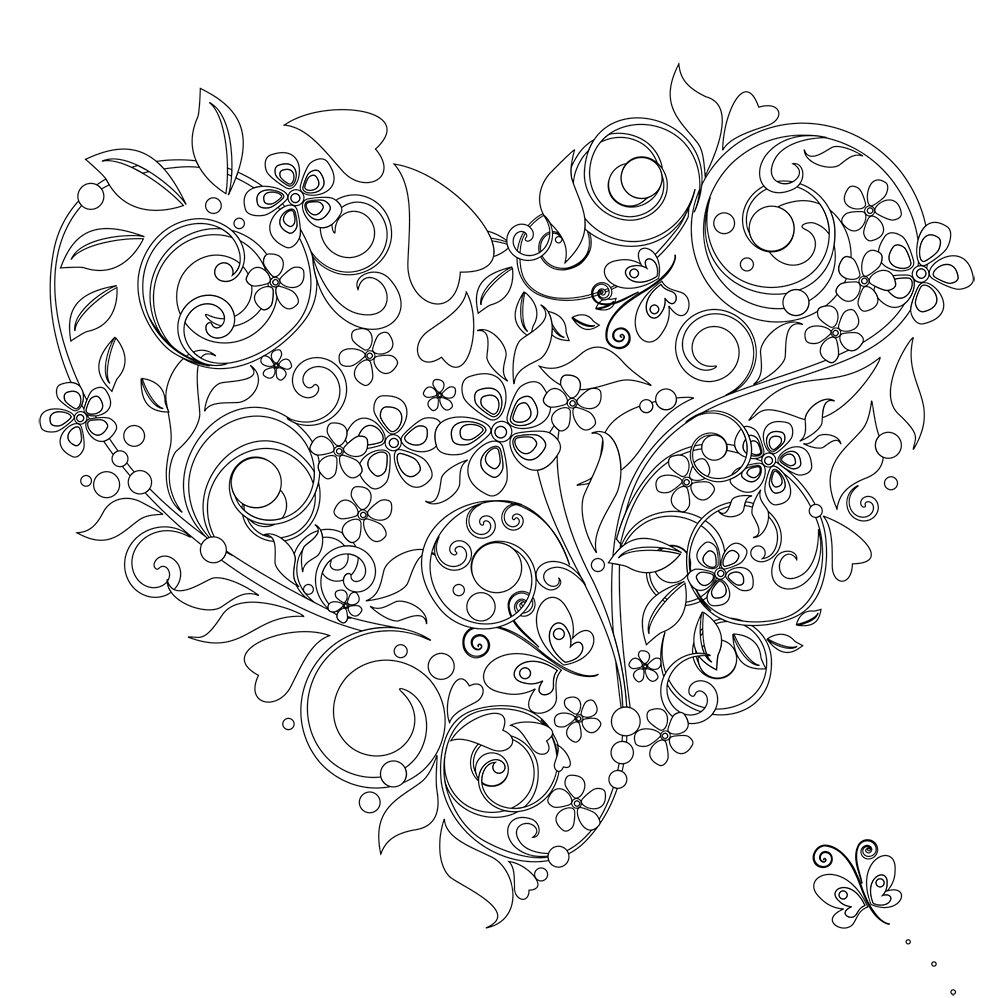 - Vive Le Color! Hearts (Adult Coloring Book): Color In; De-stress