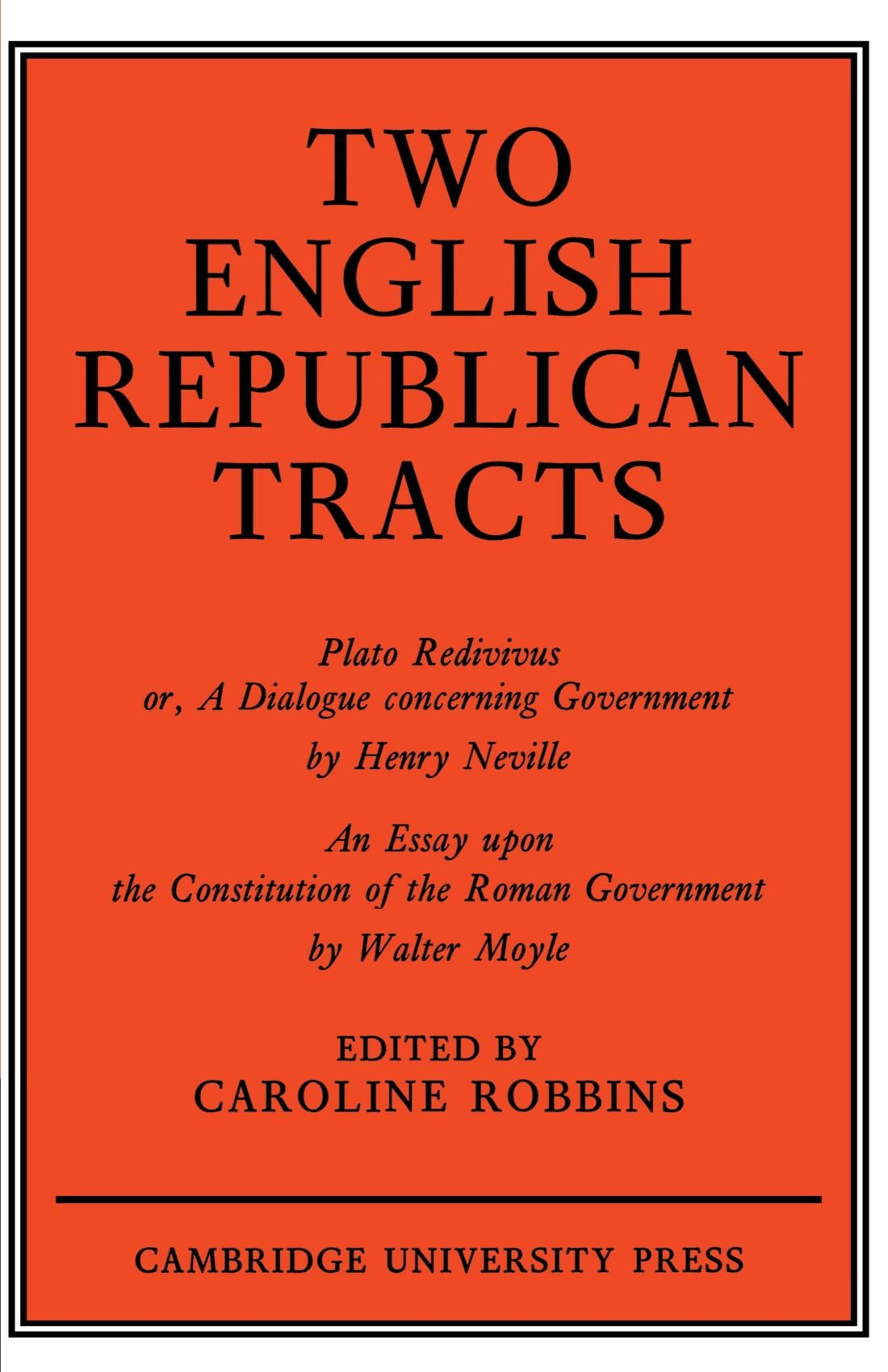 Two english republican tracts robbins 9780521147484 amazon books stopboris Choice Image