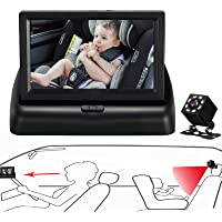 Itomoro Baby Car Mirror, View Infant in Rear Facing Seat with Wide Crystal Clear View,Night Vision,Camera Aimed at Baby…