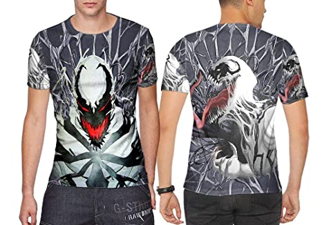 5a9ad1488d64 Dreamcustom Anti Venom Symbiote Fans Sublimation Fullprint Men TOP Shirt  Size S - XXXL (T
