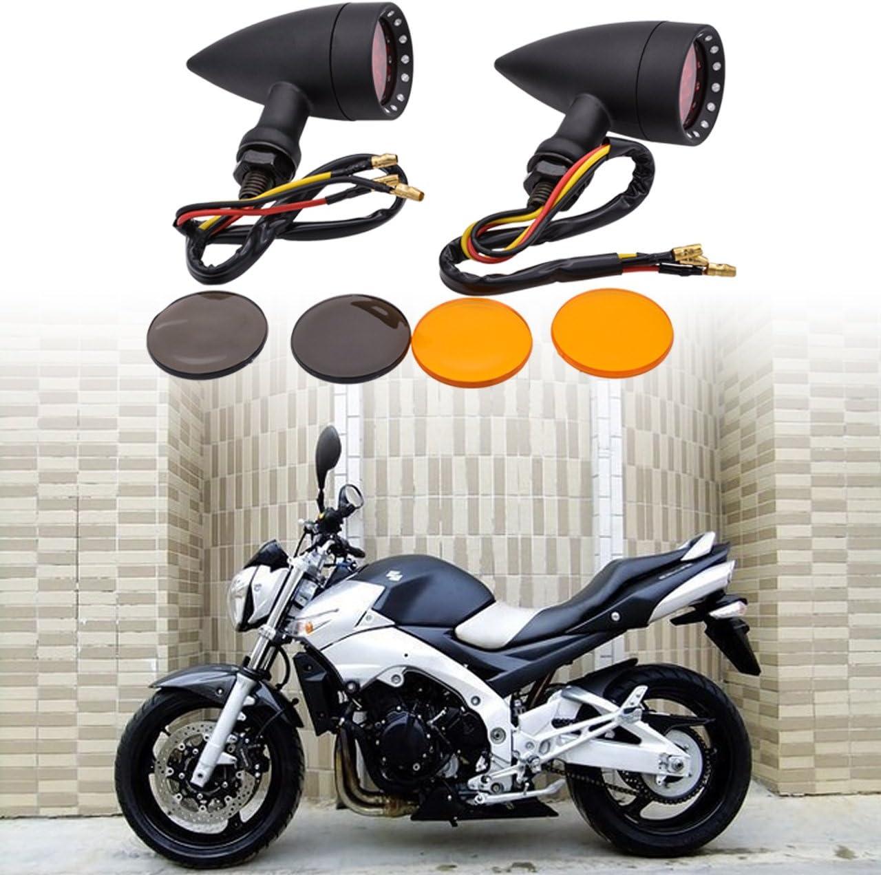 perfk 2pcs CNC Aluminium Alloy Height Extender Shock Absorber Motorbike Jack Up Riser Suspension 77mm Black