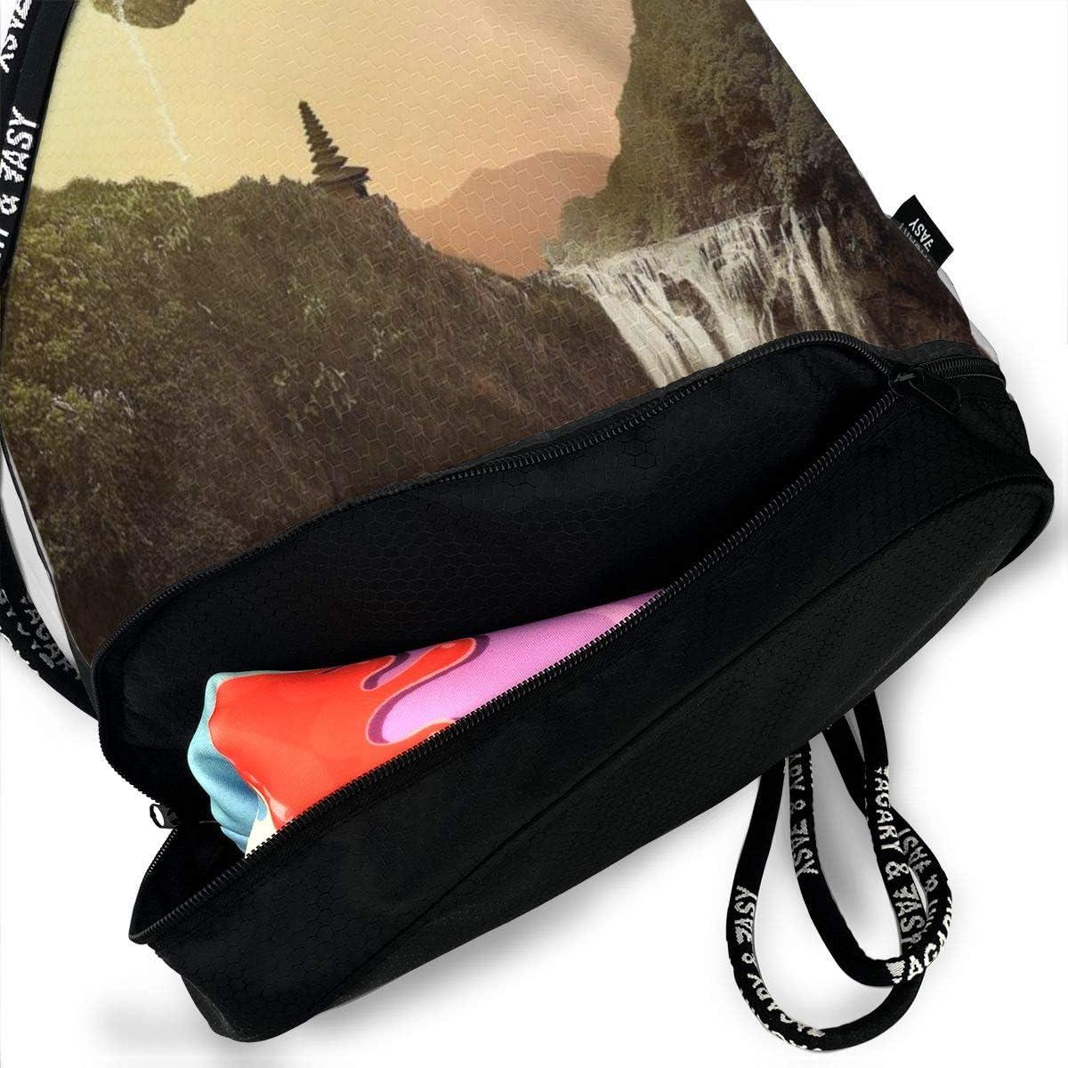 GymSack Drawstring Bag Sackpack Jigsaw Puzzle Sport Cinch Pack Simple Bundle Pocke Backpack For Men Women