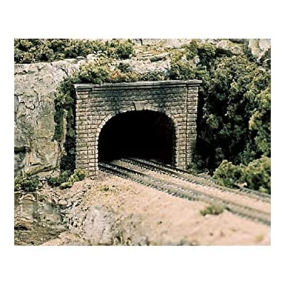 Woodland Scenics N Double Tunnel Portal, Cut Stone (2): Toys & Games