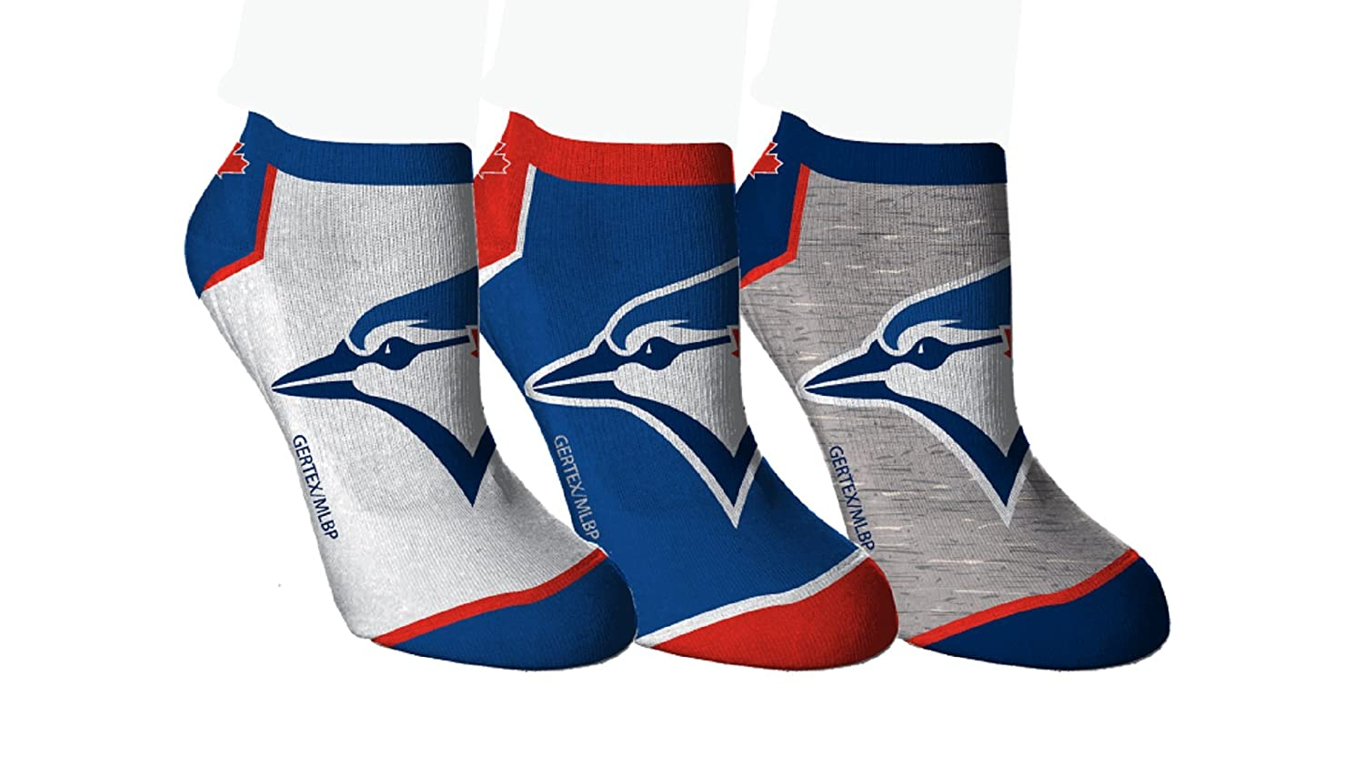 Toronto Blue Jays Women's 3-Pack Ankle Socks SPORTICUS