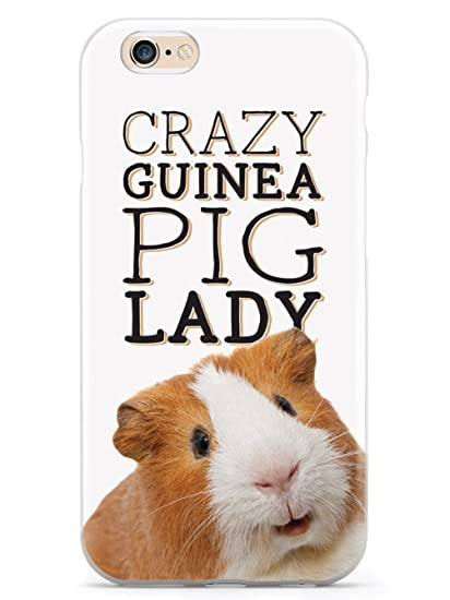 new products 4c697 083c7 Amazon.com: Inspired Cases Crazy Guinea Pig Lady Case for iPhone 6 ...