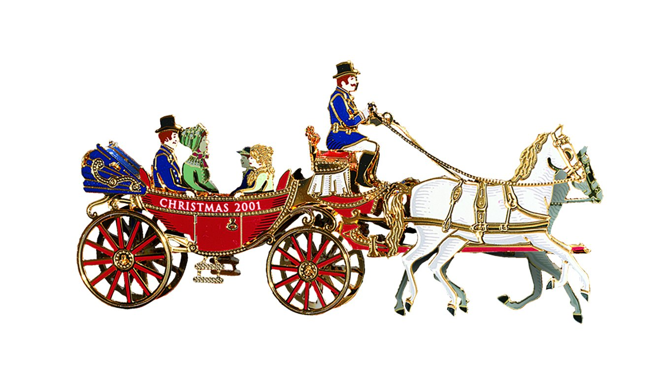 White house christmas ornaments by year - Amazon Com 2001 White House Christmas Ornament A First Family S Carriage Ride By White House Historical Association Home Kitchen