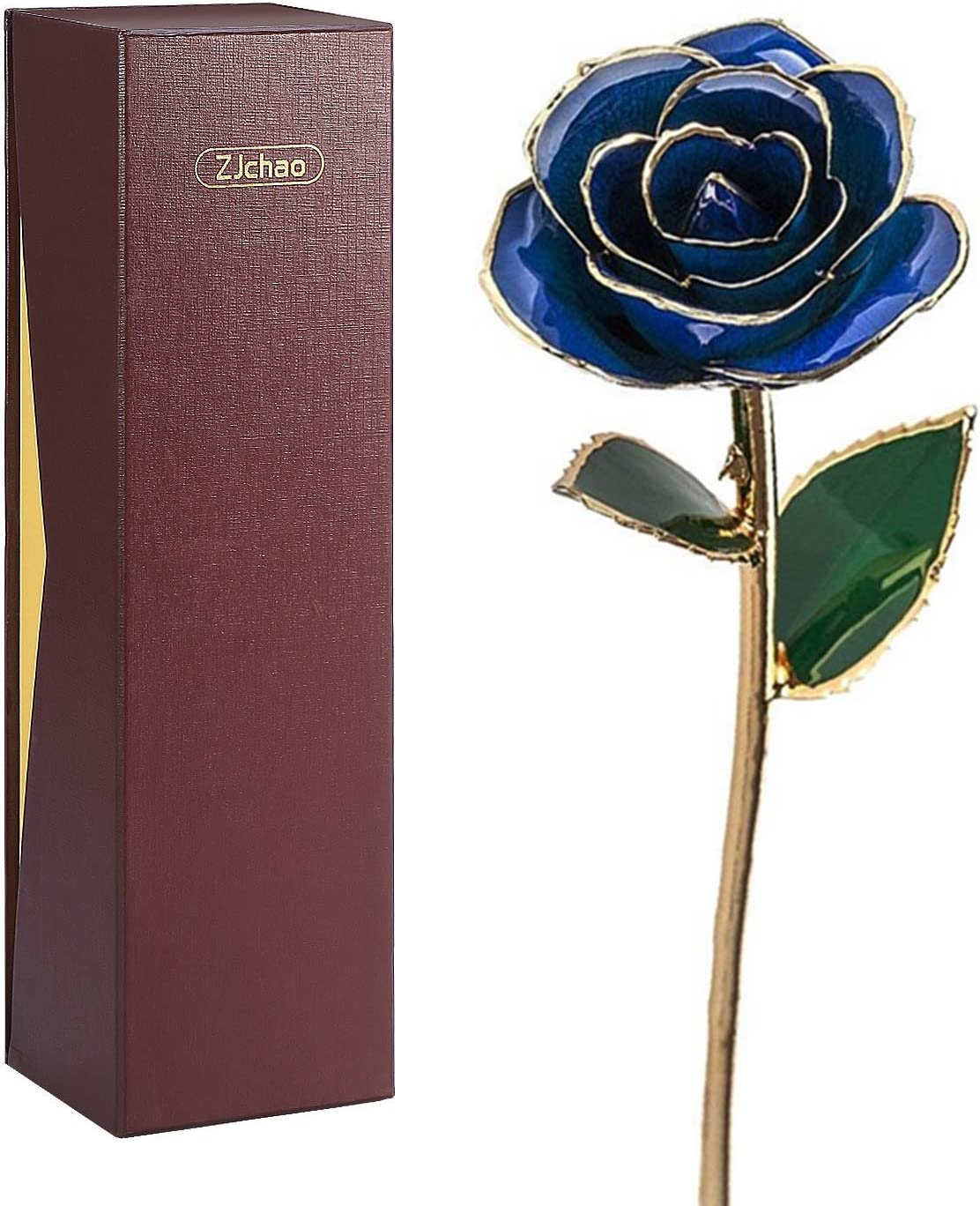 Goldene Gold Rose Hochzeit Geburtstag Valentinstag Geschenk 999 vergoldet