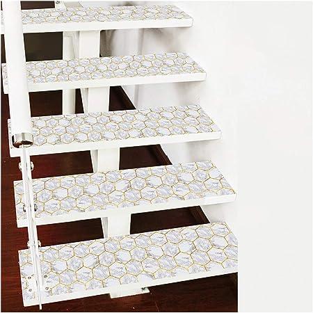 Ancoree Linea de Oro Diamante Marmol Escalera Pegatinas Escalera Mat Paso Alfombra Decoración Alfombra Mat Escalera Sticker Piso Autoadhesiva Antideslizante Escalera Peldaños Protector: Amazon.es: Hogar