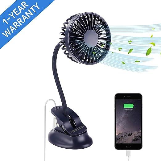 Blue Multi-Functional USB Rechargeable Mini Desktop Standing Cooling Fan Night Light Phone Holder Home Office Household