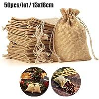 Rbiouseix 50 Piezas Bolsas de arpillera con Bolsa