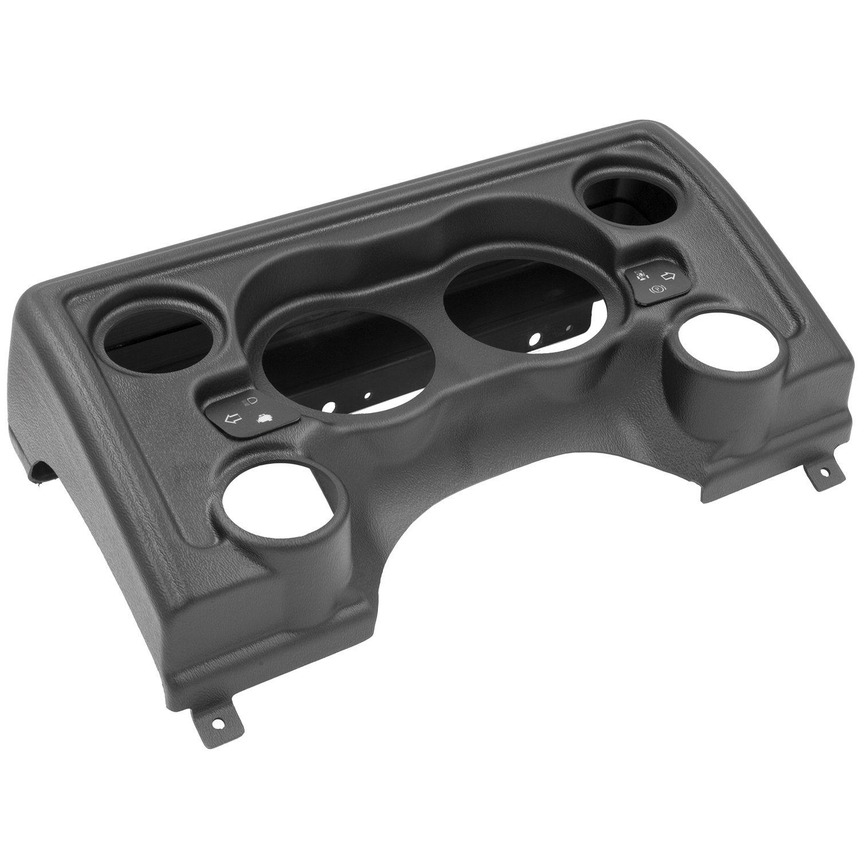 "Auto Meter AutoMeter 90011 Solutions Mount, Direct Fit Dash Panel, 6 Gauge (3 3/8"" X2, 2 1/16"" X4), Jeep Tj/Xj"
