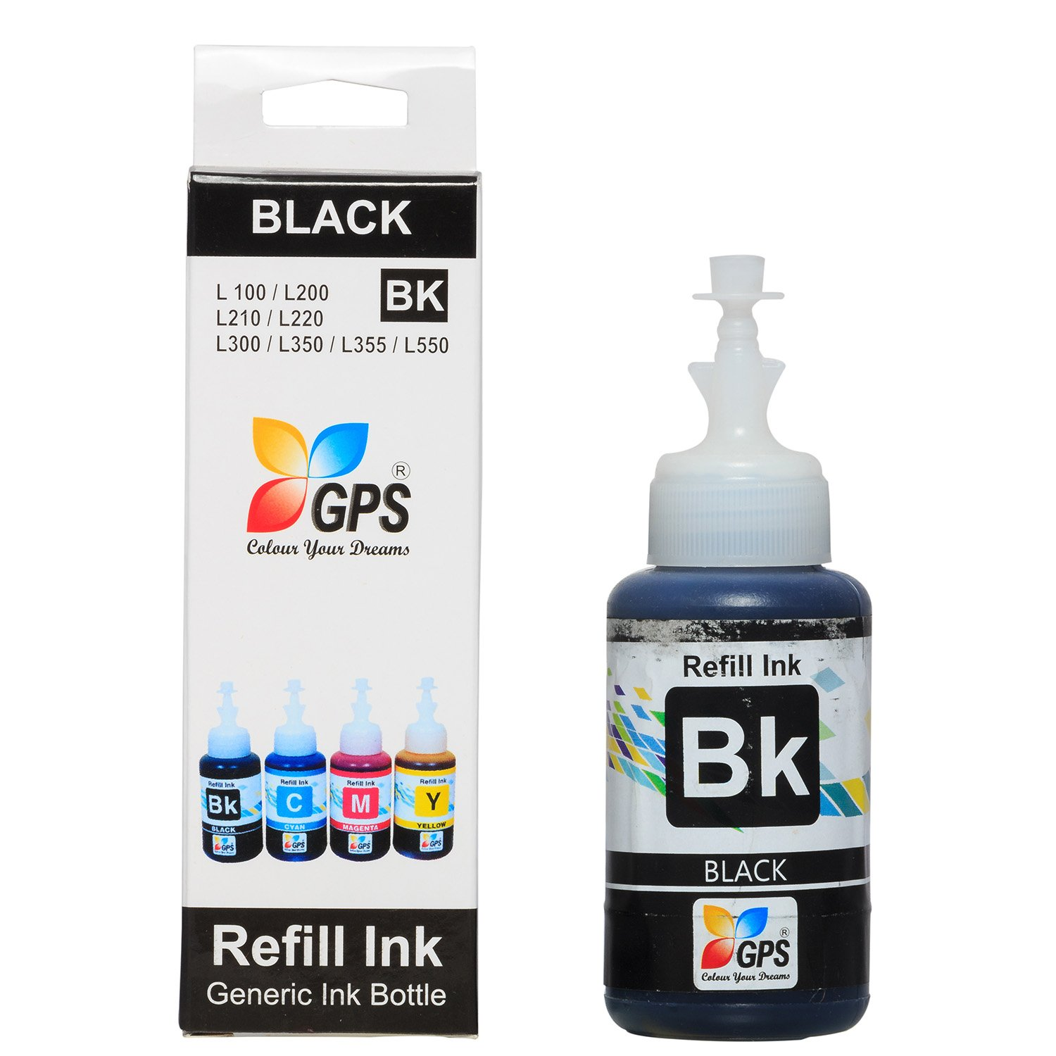 Buy Gps 4 Pack Compatible Epson 75gms Refill Ink Set Print Head L120 L130 L220 L310 L360 L365 L380 L385 L455 L485 L565 New Original T664 For Printer Model L100 L110 L200 L210 L300 L350 L355 L550 L555 Online At Low Prices In India